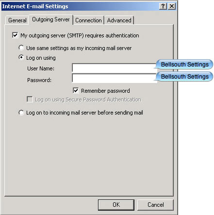Bellsouth smtp settings